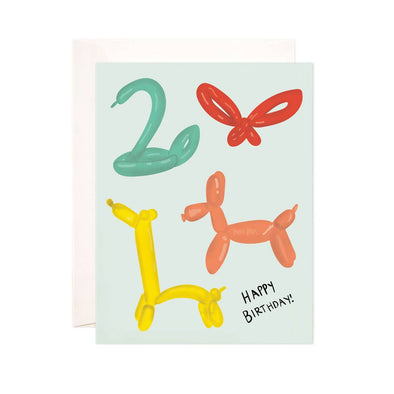 Birthday Balloon Animals Greeting Card