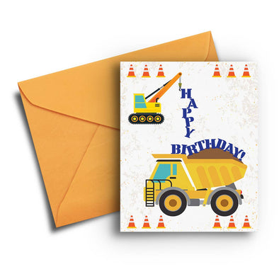 Construction Kid's Birthday Card