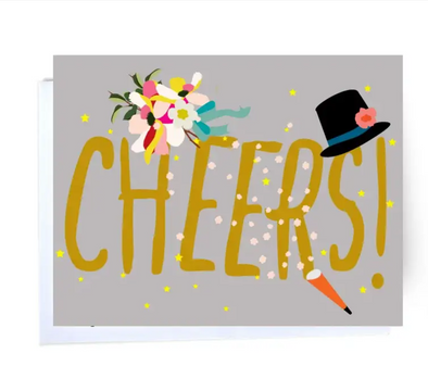 Cheers + Confetti Note Card