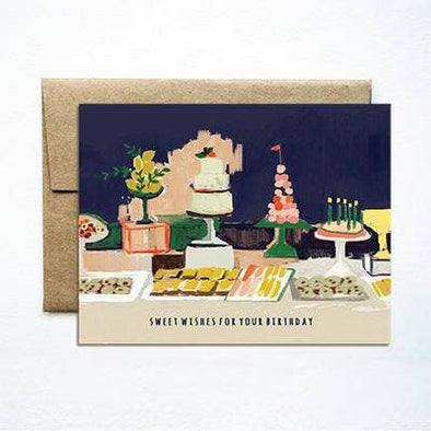 Dessert Table Birthday Card