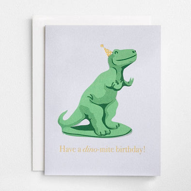 Dinomite Foil Birthday Card