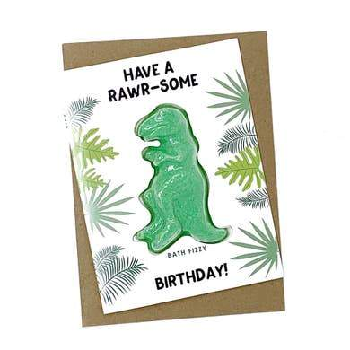 Have a Rawr-some Birthday Bath Bomb Card