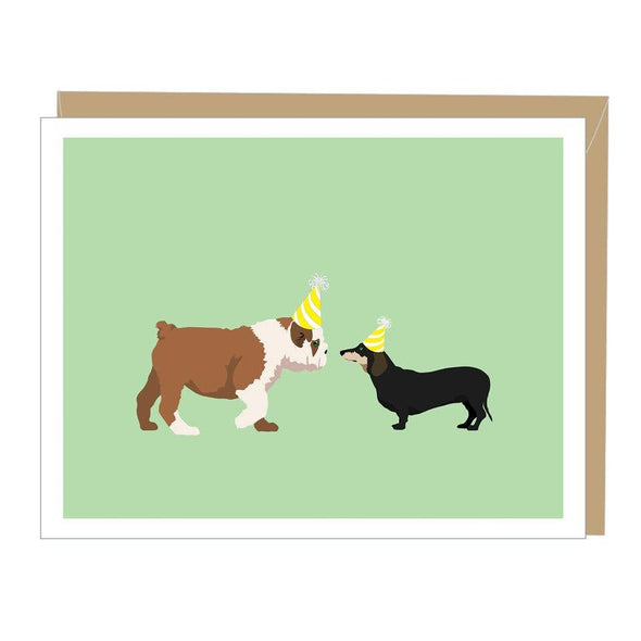 Two Dogs Greeted Birthday Card
