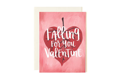 Falling for You Valentine Illustrated Card