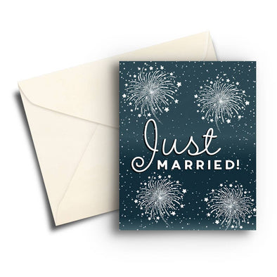 Fireworks Wedding Card