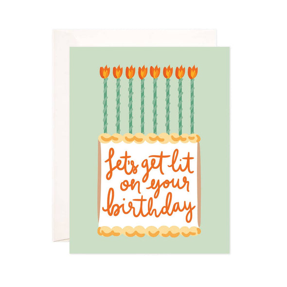 Lit Birthday Greeting Card