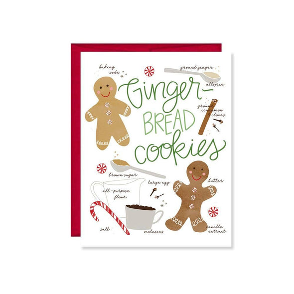 Gingerbread Cookie Holiday Card