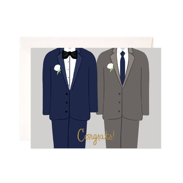 Grooms Congrats Greeting Card