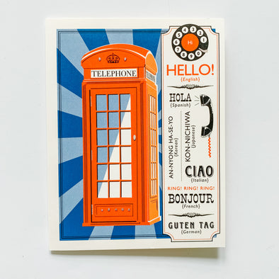 Hello Phone Booth Card