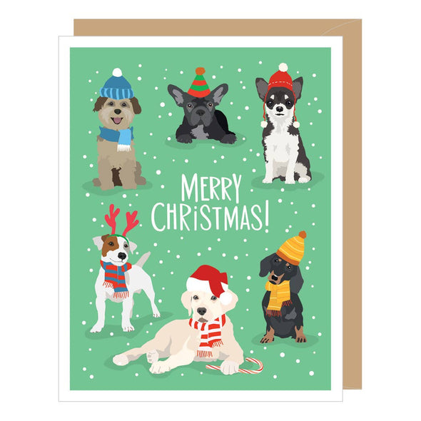 Holiday Dogs Greeting Card