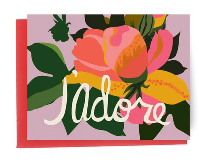 J'Adore Note Card