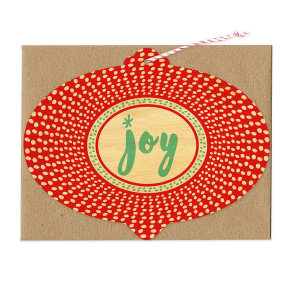 Radiant Joy Wood Ornament Holiday Card