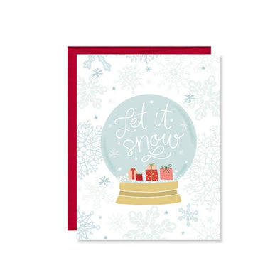 Let It Snow Globe Holiday Card