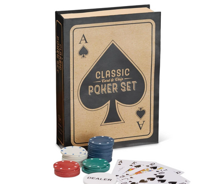 Classic Poker Set in Storage Gift Box