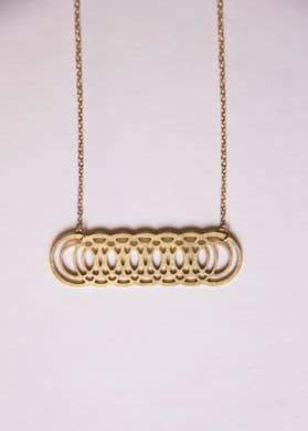 Overlapping Venn Circles Geometric Necklace