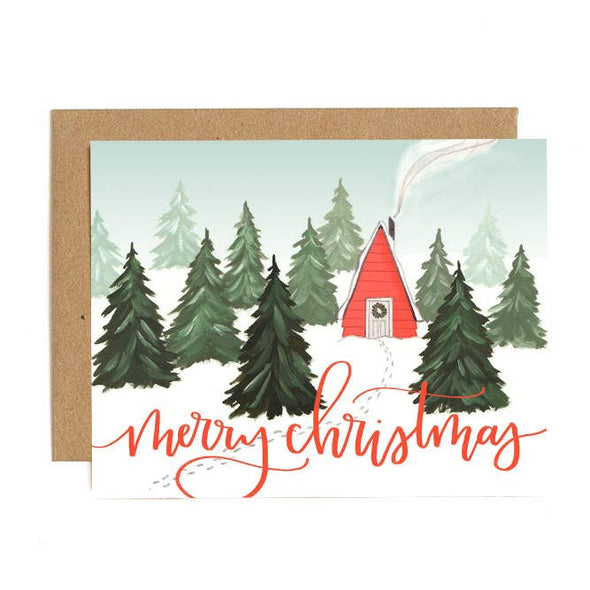 Merry Christmas Hand Painted Stationery Set