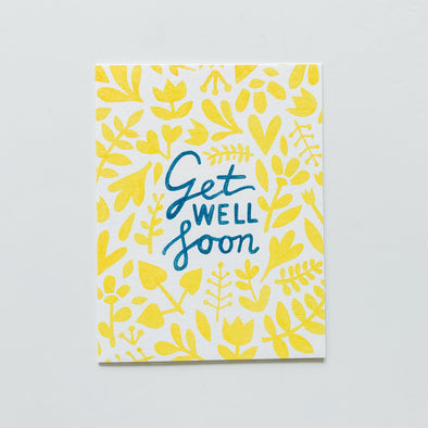 Yellow Get Well Soon Card