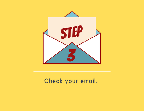 find a pen pal step 3: check your email