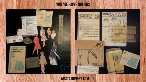 Vintage paper notions by AM Art & Stationery