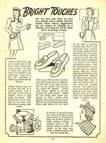 Pen Pal Story: old magazine page with sewing project instructions
