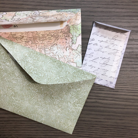 3 envelopes in different sizes