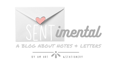 SENTimental Blog Banner: A blog about notes and letters