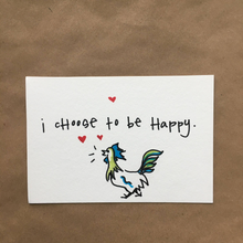 "Load image into Gallery viewer, ""i cHoose tO be HappY."" Set of 6 Hand-drawn 4x6 Cards"