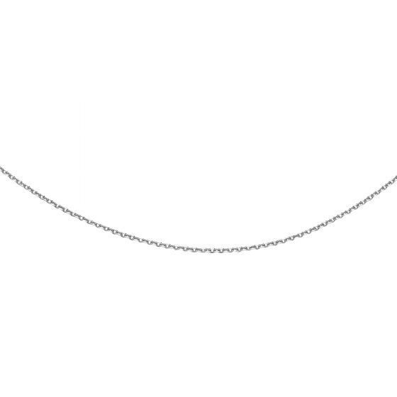 1.9mm Sterling Silver with Rhodium Finish 18'' Classic Diamond Cut Cable Link Necklace with Lobster Clasp. Ideal to Wear Alone or Complement with a Wide Range of Pendants From Collection.