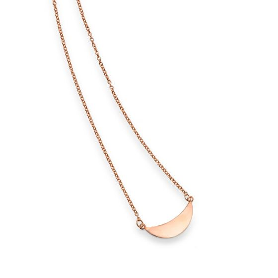 14kt Gold 18'' Rose Finish Polished 2'' Extender Necklace with Spring Ring Clasp