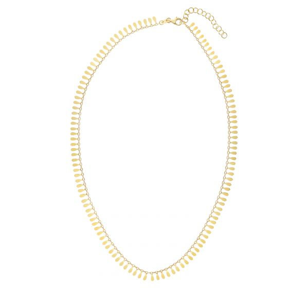 14kt Gold 18'' Yellow Finish 6.5mm Polished Extendable Petal Necklace with Lobster Clasp