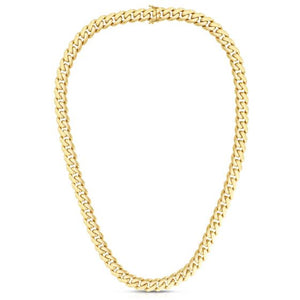 14kt Gold 21.95'' Yellow Finish 9.5mm Polished Chain with Slide with Double Figure 8 Clasp