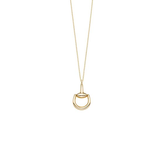 14kt Gold Yellow Finish Pendant on 14kt Gold 18'' Yellow Finish 1.25mm Shiny Round Cable Chain with Lobster Clasp