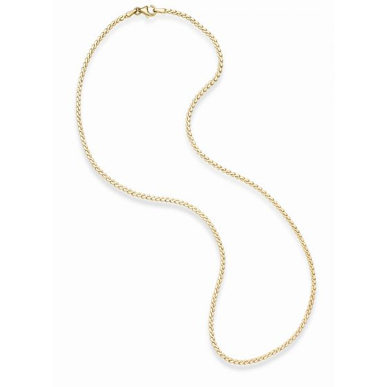 14kt Gold 18'' Yellow Finish 2.3mm Swirl Link Necklace with Lobster Clasp