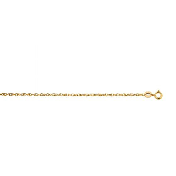 14Kt 18'' Yellow Gold Carded 7R Pendant Chain with Lobster Clasp