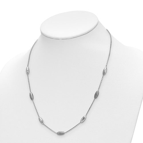 Leslie's Sterling Silver Polished And Satin With 2 In Ext. Necklace