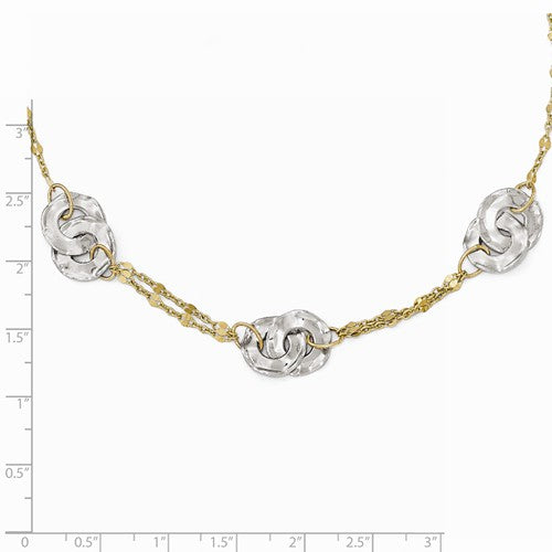 Leslie's 14k Two-Tone Polished Necklace