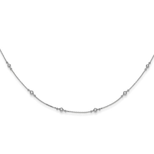 14kw Lab Grown Diamond SI1/SI2, G H I, Multi Station Necklace