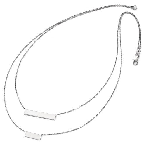 Leslie's Sterling Silver Double Bar Necklace