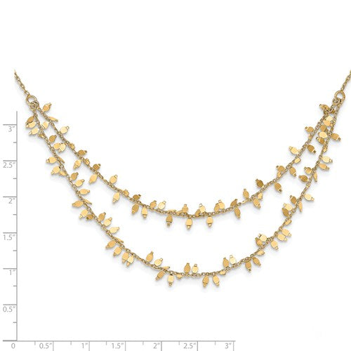 Leslie's Sterling Silver Gold-Plated Multi-Layer With 2 In Ext Necklace