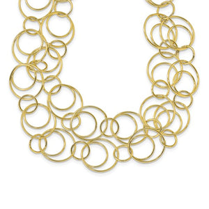Leslie's Sterling Silver Gold-Tone Polished With 1.5in Ext. Necklace