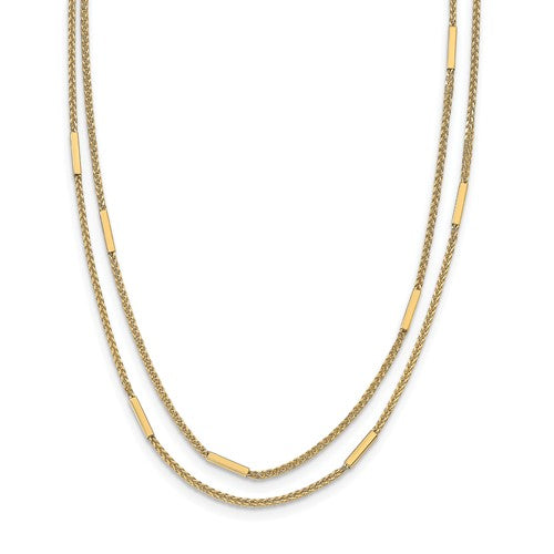 Leslie's 14k Polished Multi-Strand Necklace