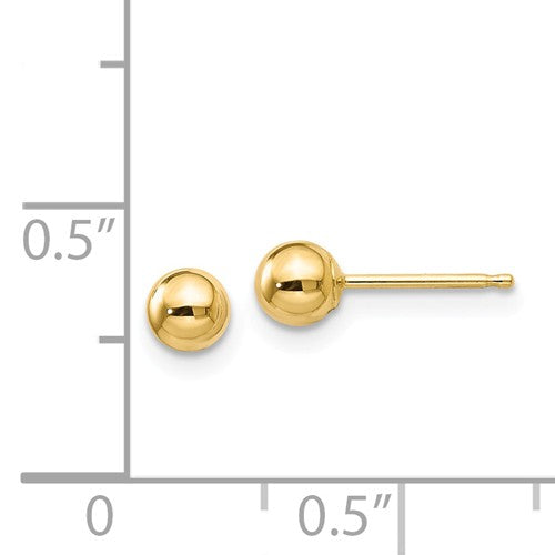 14k Polished 4mm Ball Post Earrings