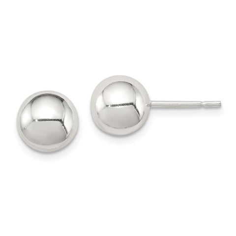 Sterling Silver Polished 8mm Ball Earrings