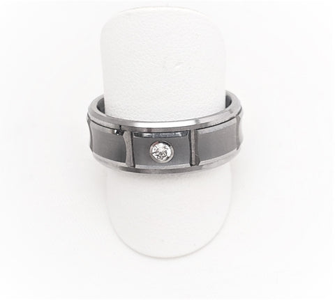TRITON TC.850 MENS TUNGSTEN CARBIDE DIAMOND RING