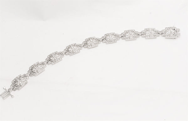14KT WHITE GOLD WOMENS 1.50 CARAT FANCY DIAMOND BRACELET