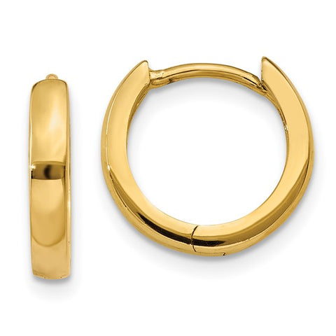 14k 2.25mm Round Hinged Hoop Earrings