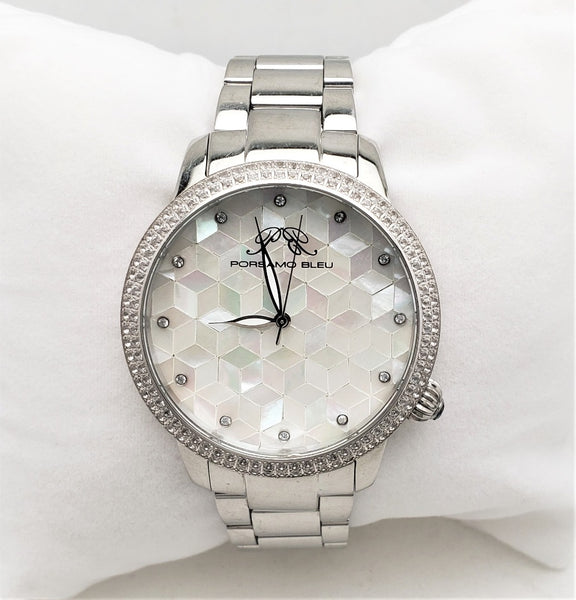 Porsamo Bleu ''Evelyn'' 761A151 Women's White Topaz Stainless Steel Watch