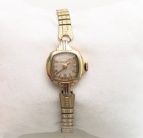 VINTAGE 1937 BULOVA LADIES WATCH 10K ROLLED GOLD PLATED