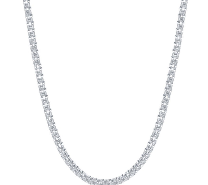Sterling Silver 3mm Round Coriana Chain - Rhodium Plated