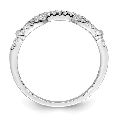 Sterling Silver Rhodium plated CZ Ring - Size 8